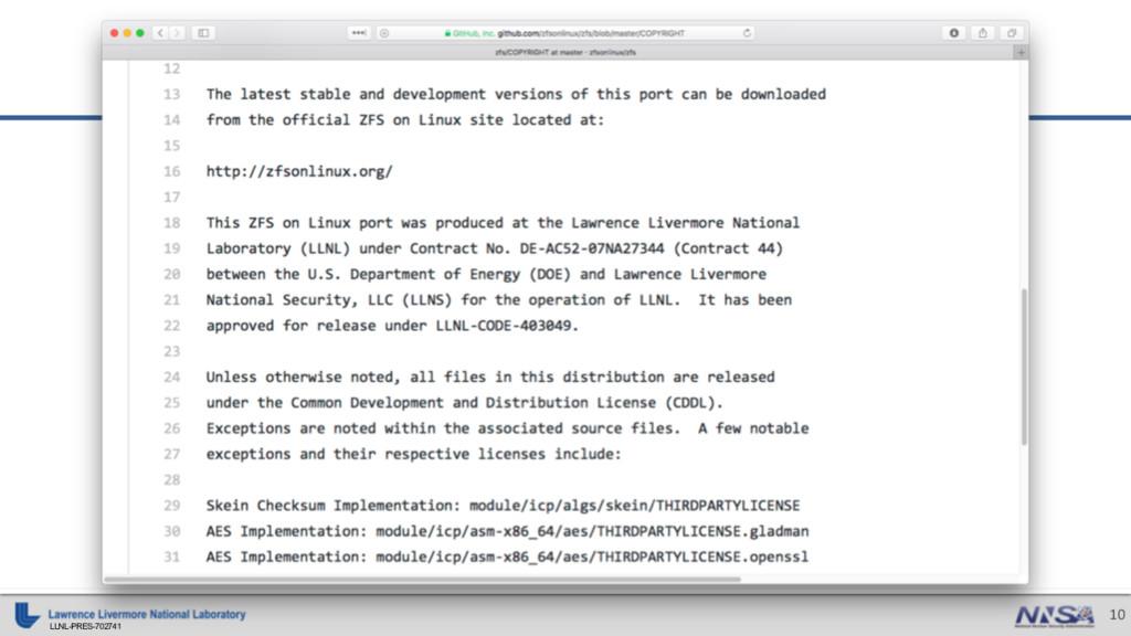 LLNL-PRES-702741 10