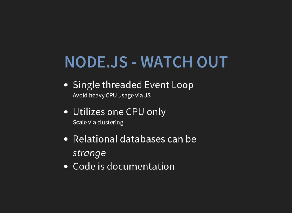 NODE.JS - WATCH OUT Single threaded Event Loop ...