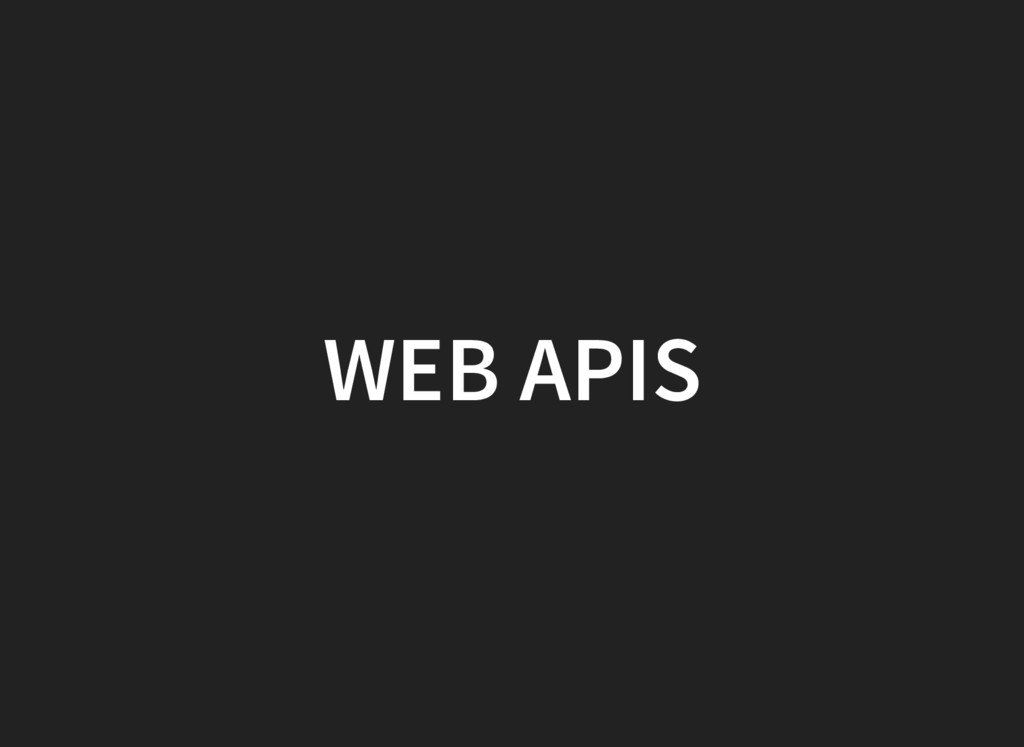 WEB APIS