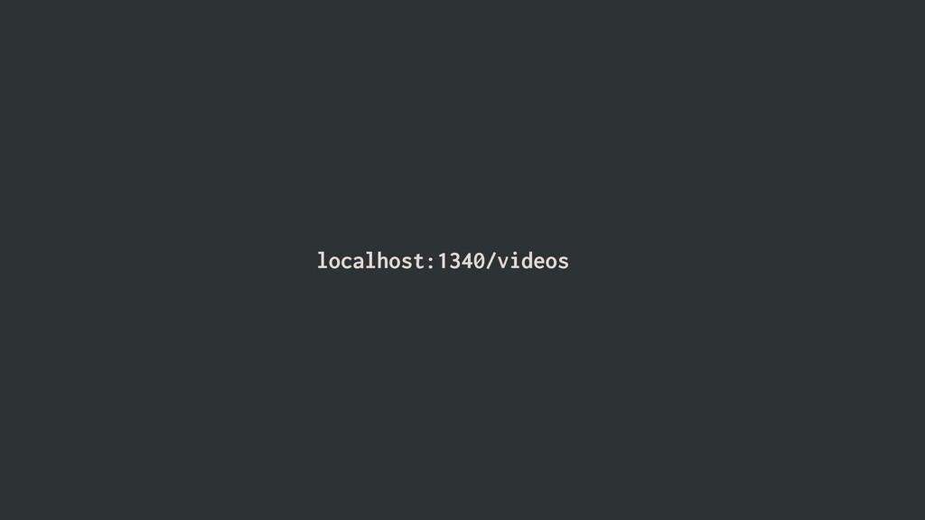 localhost:1340/videos