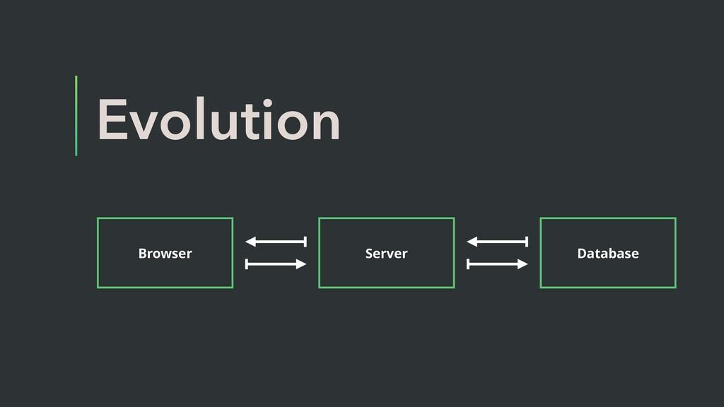 Evolution Browser Server Database