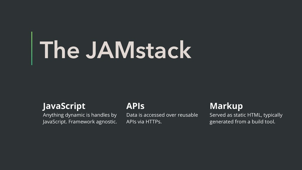 The JAMstack JavaScript Anything dynamic is han...