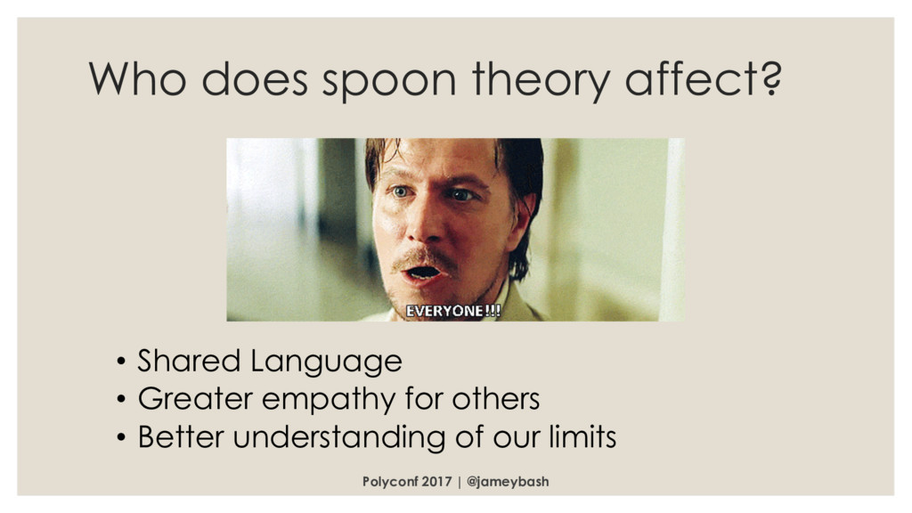 Who does spoon theory affect? Polyconf 2017 | @...