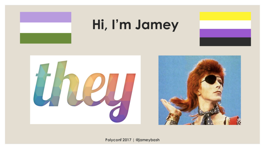 Polyconf 2017 | @jameybash Hi, I'm Jamey