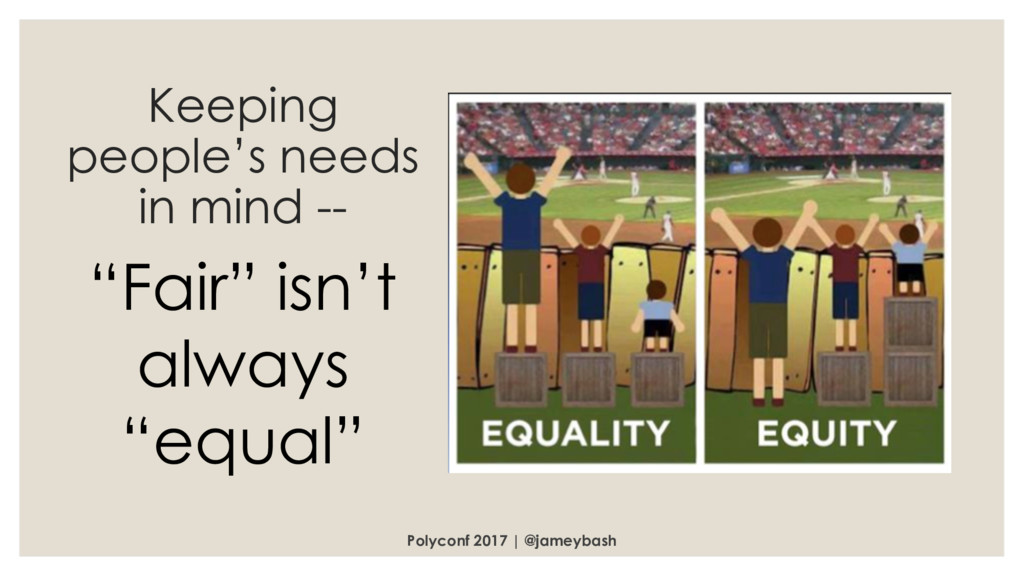 Keeping people's needs in mind -- Polyconf 2017...