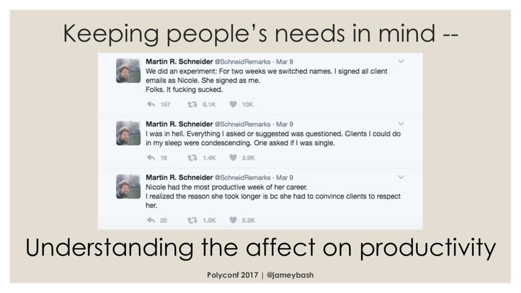 Polyconf 2017 | @jameybash Keeping people's nee...