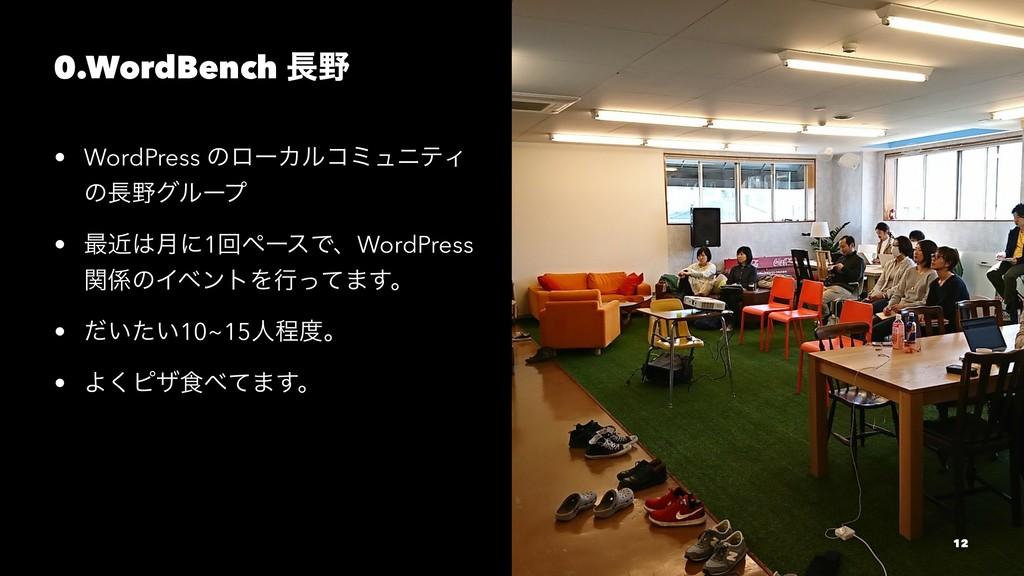 0.WordBench  • WordPress ͷϩʔΧϧίϛϡχςΟ ͷάϧʔϓ ...