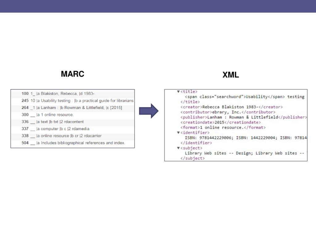 MARC XML