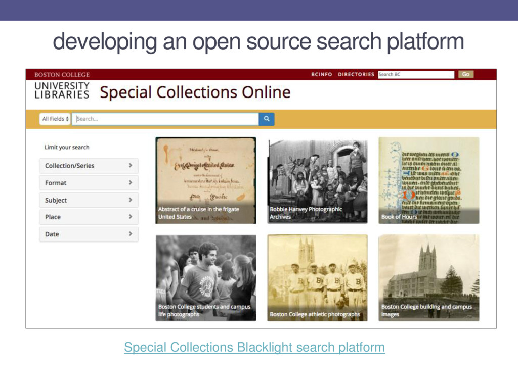 developing an open source search platform Speci...