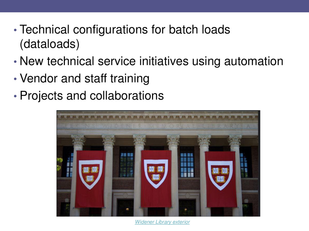 • Technical configurations for batch loads (dat...