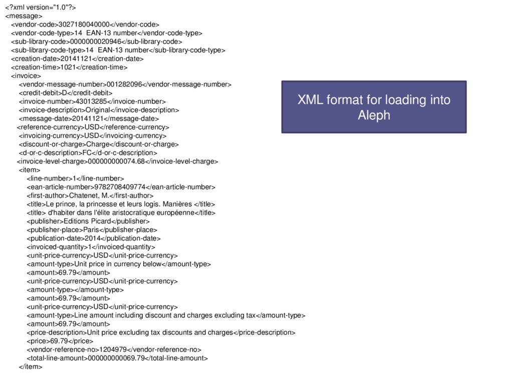 """<?xml version=""""1.0""""?> <message> <vendor-code>30..."""