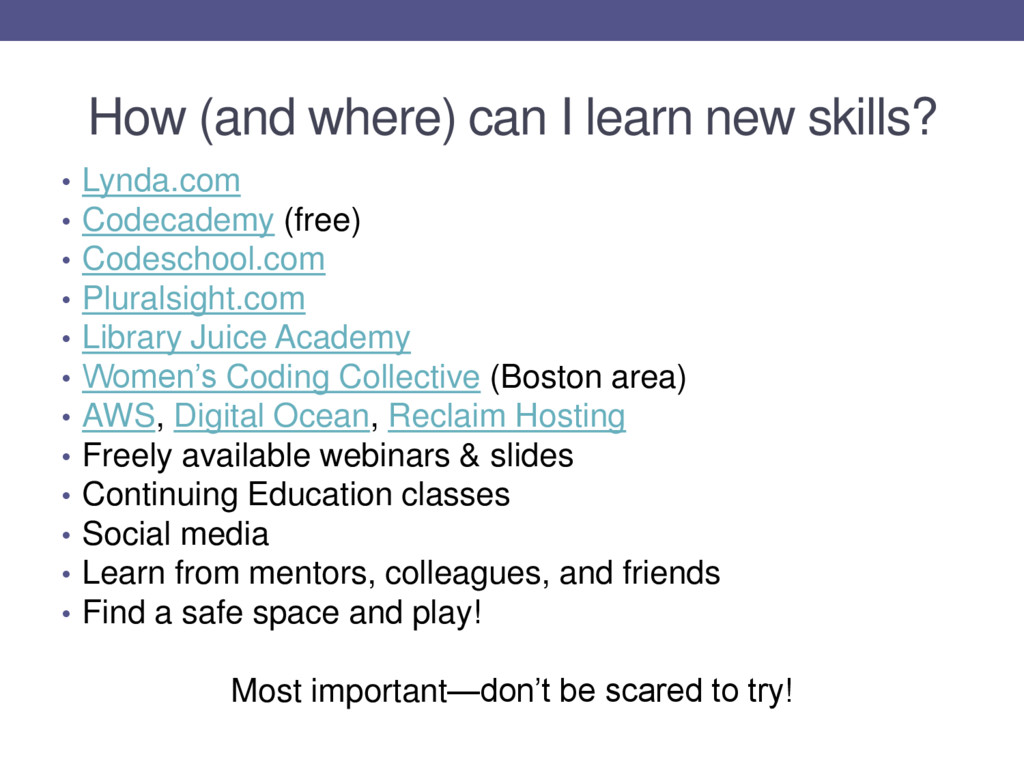 How (and where) can I learn new skills? • Lynda...
