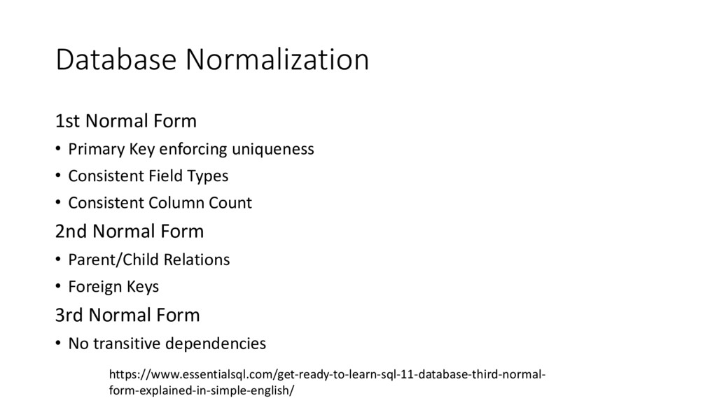 Database Normalization 1st Normal Form • Primar...