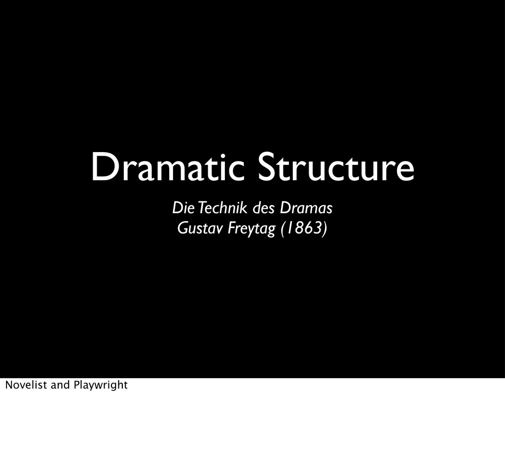 Dramatic Structure Die Technik des Dramas Gusta...