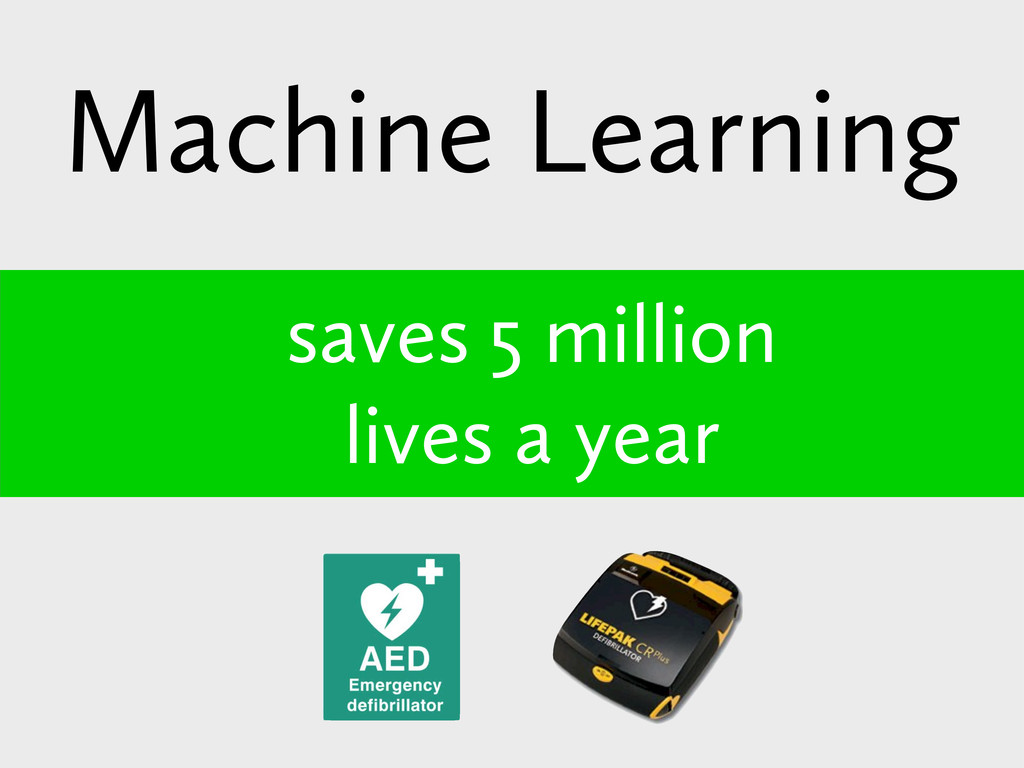 saves 5 million lives a year Machine Learning