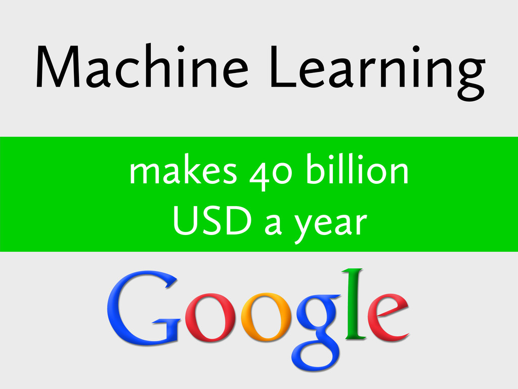 Machine Learning makes 40 billion USD a year