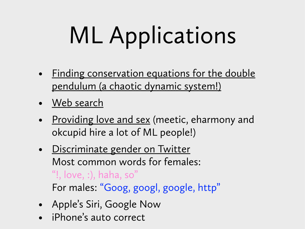 ML Applications • Finding conservation equation...