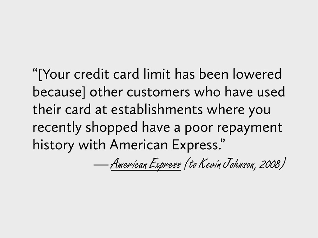 """[Your credit card limit has been lowered becau..."