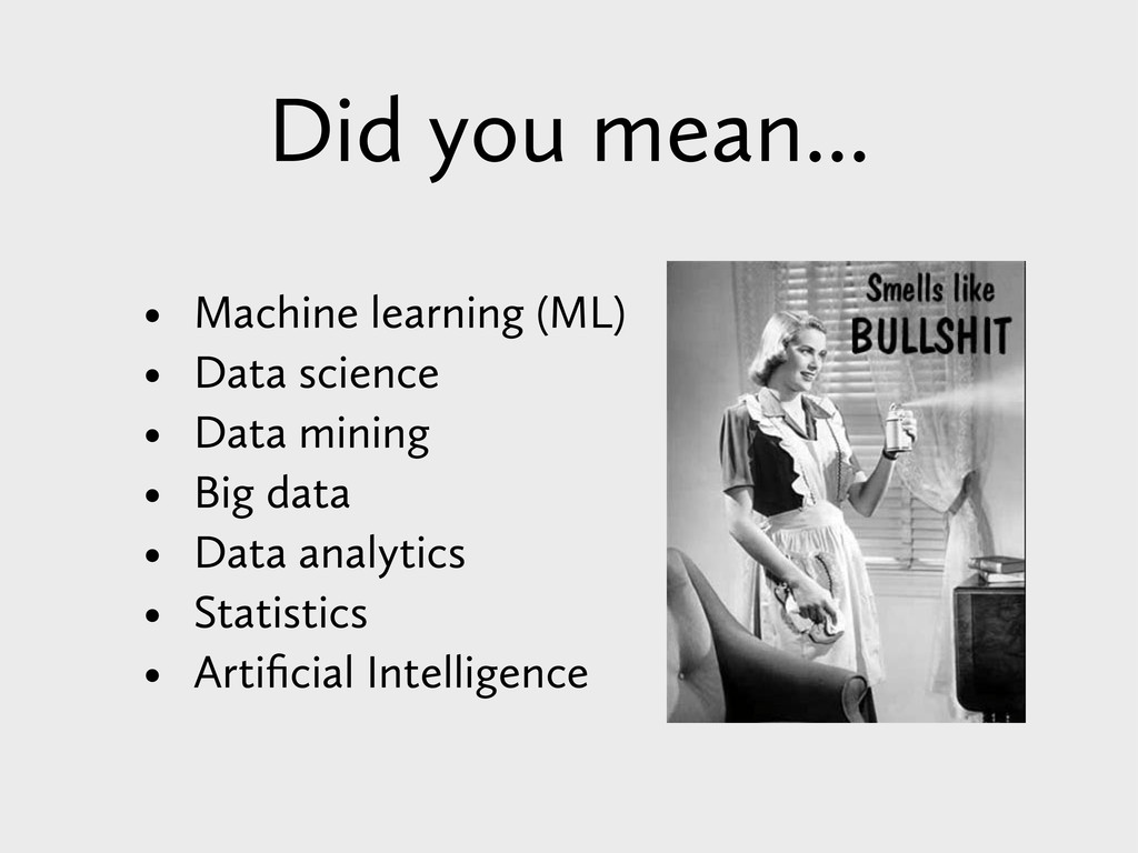 Did you mean... • Machine learning (ML) • Data ...