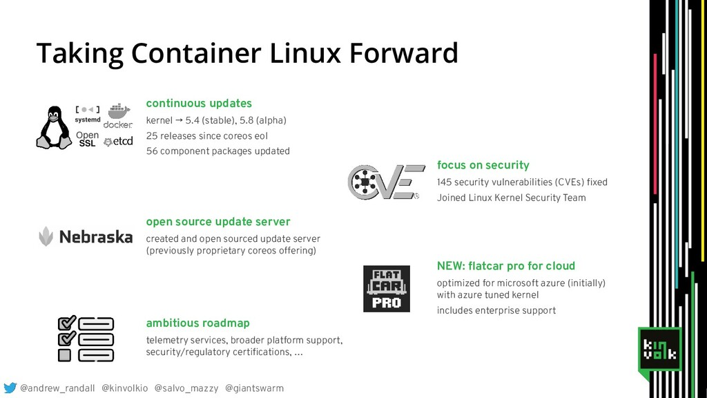 Taking Container Linux Forward continuous updat...