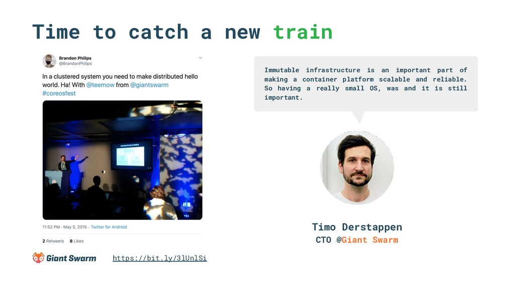 Time to catch a new train Immutable infrastruct...