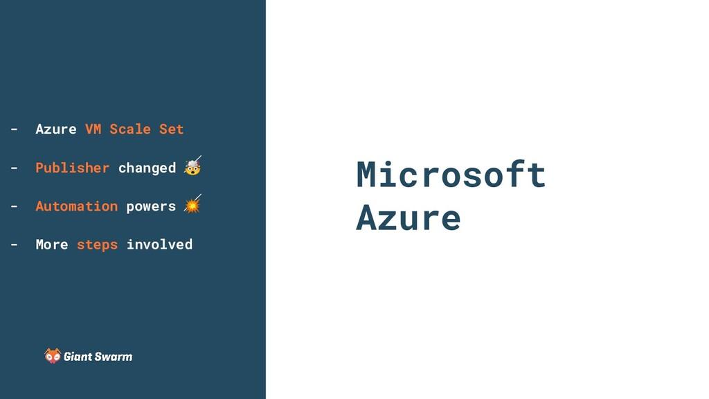 Microsoft Azure - Azure VM Scale Set - Publishe...