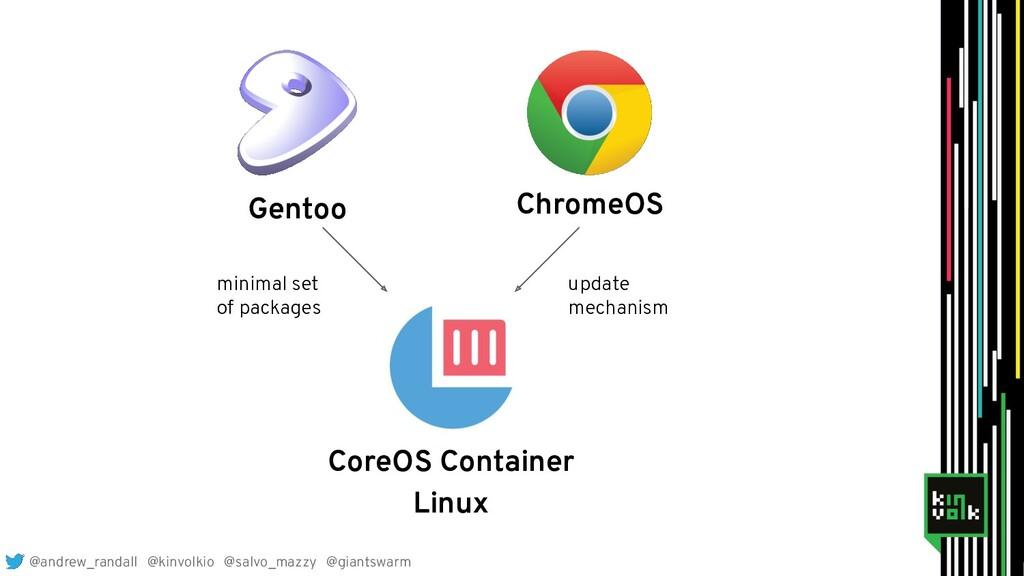Gentoo ChromeOS CoreOS Container Linux minimal ...