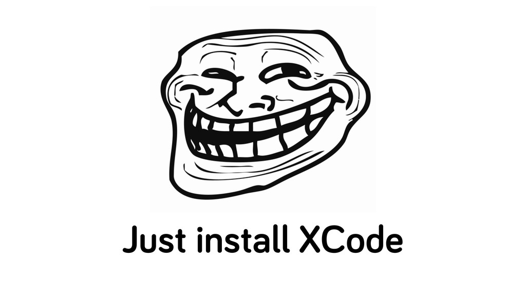 Just install XCode