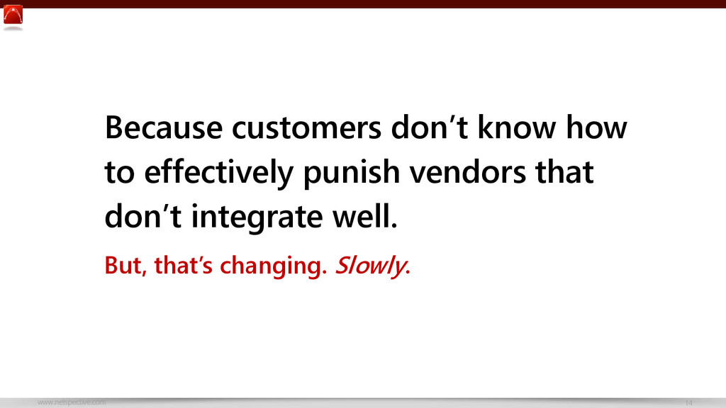www.netspective.com 14 Because customers don't ...
