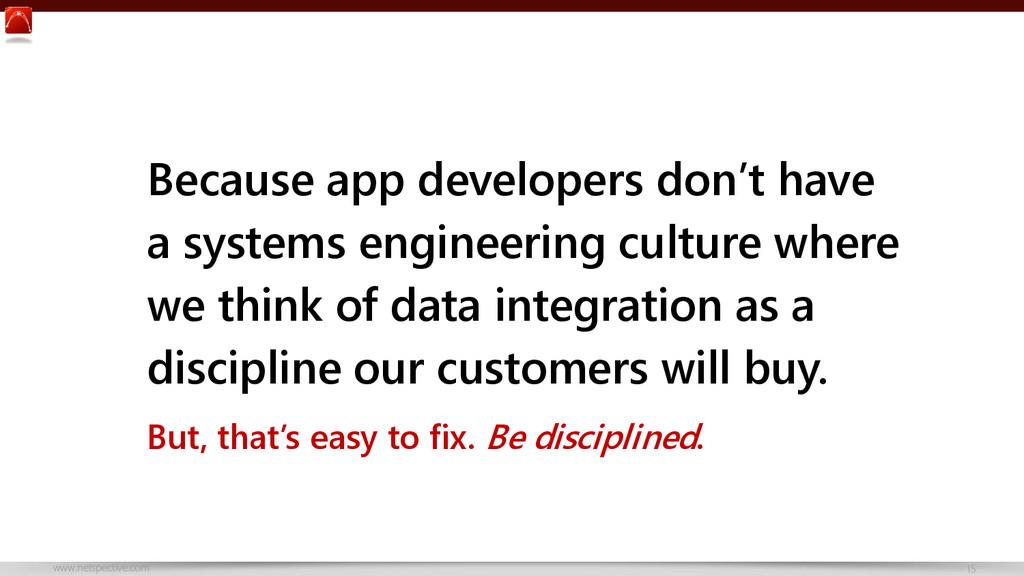www.netspective.com 15 Because app developers d...
