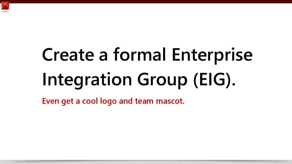 www.netspective.com 23 Create a formal Enterpri...