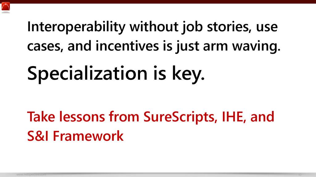 www.netspective.com 10 Interoperability without...
