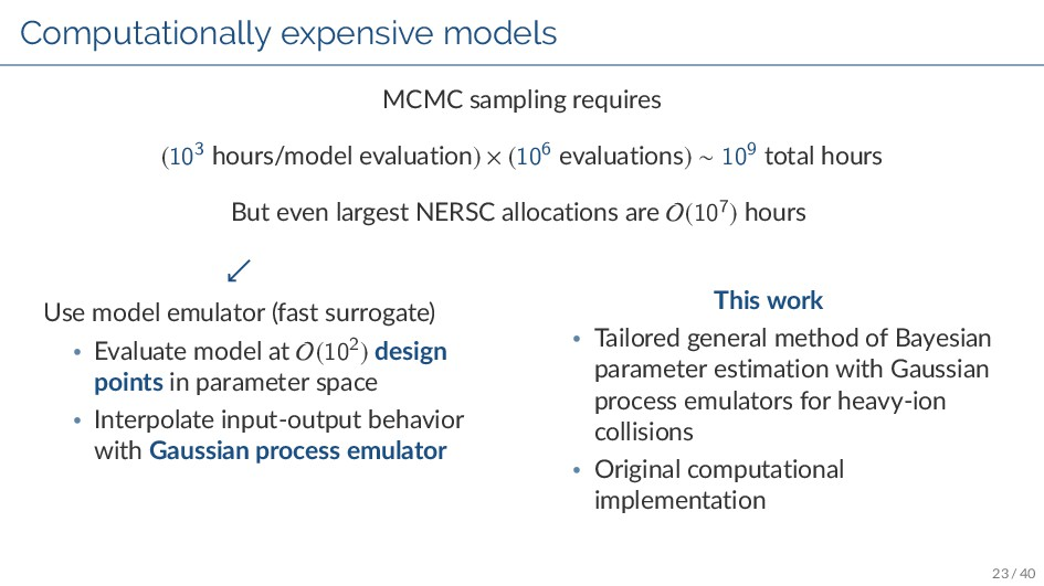 Computationally expensive models MCMC sampling ...