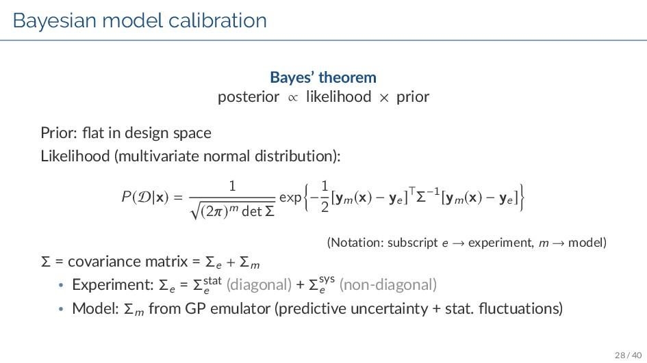 Bayesian model calibration Bayes' theorem poste...