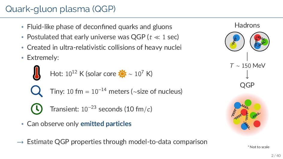 Quark-gluon plasma (QGP) • Fluid-like phase of ...