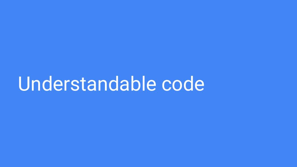 Understandable code