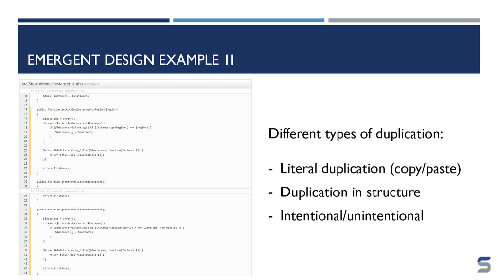 EMERGENT DESIGN EXAMPLE 1I Different types of d...
