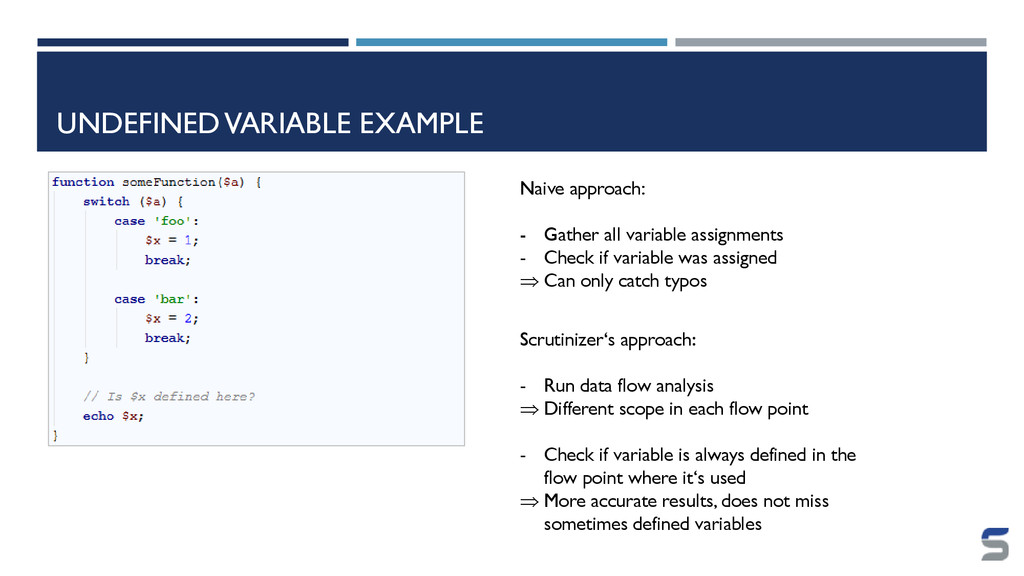 UNDEFINED VARIABLE EXAMPLE Naive approach: - Ga...