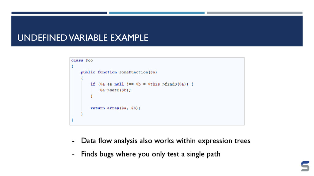 UNDEFINED VARIABLE EXAMPLE - Data flow analysis...