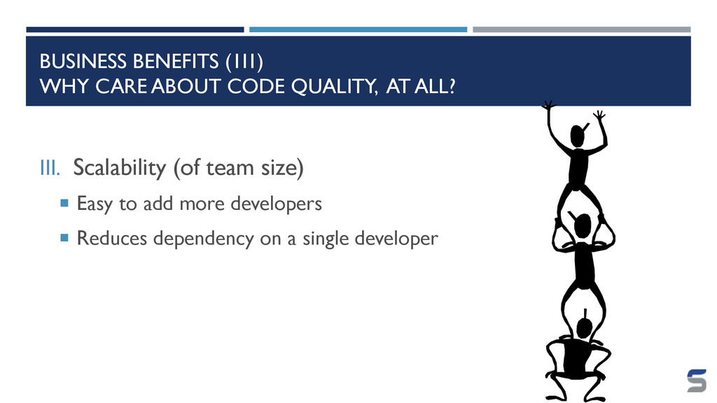 BUSINESS BENEFITS (1II) WHY CARE ABOUT CODE QUA...