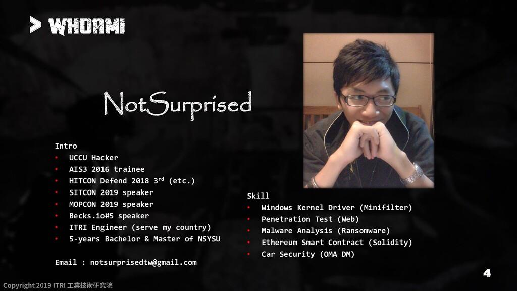 > NotSurprised Intro • UCCU Hacker • AIS3 2016 ...