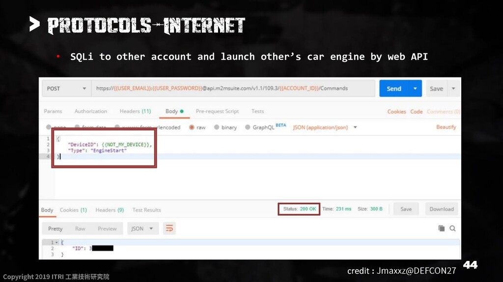 > • SQLi to other account and launch other's ca...