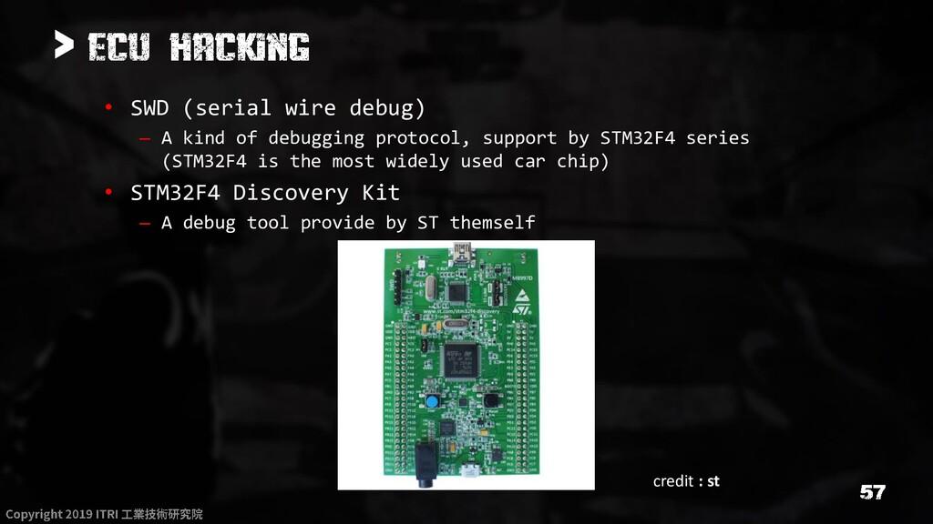 > • SWD (serial wire debug) – A kind of debuggi...