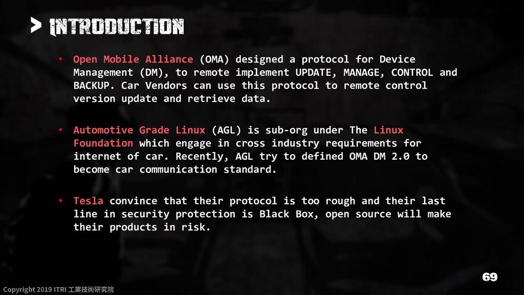 > • Open Mobile Alliance (OMA) designed a proto...