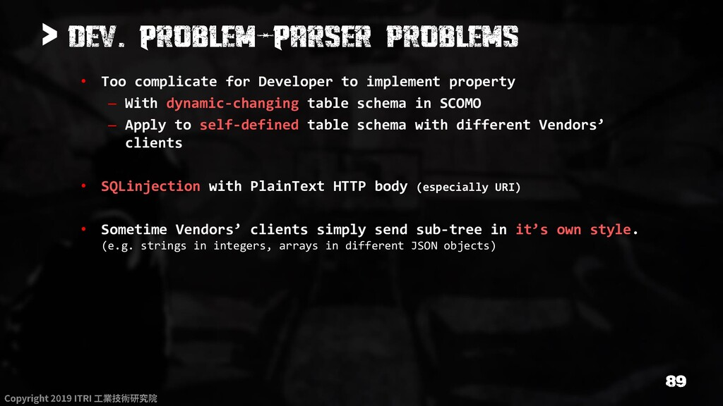 > • Too complicate for Developer to implement p...