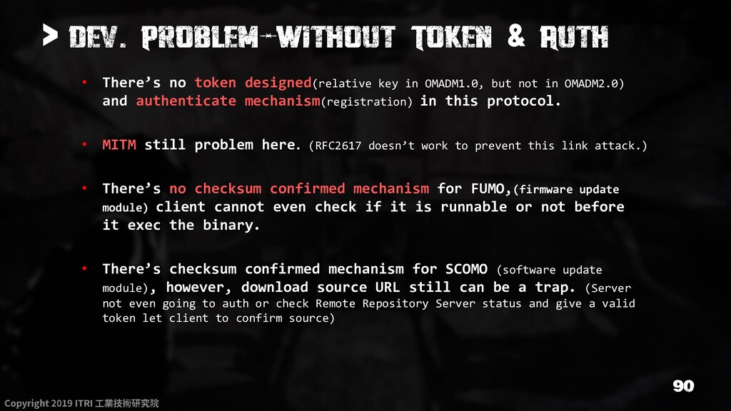 > & • There's no token designed(relative key in...