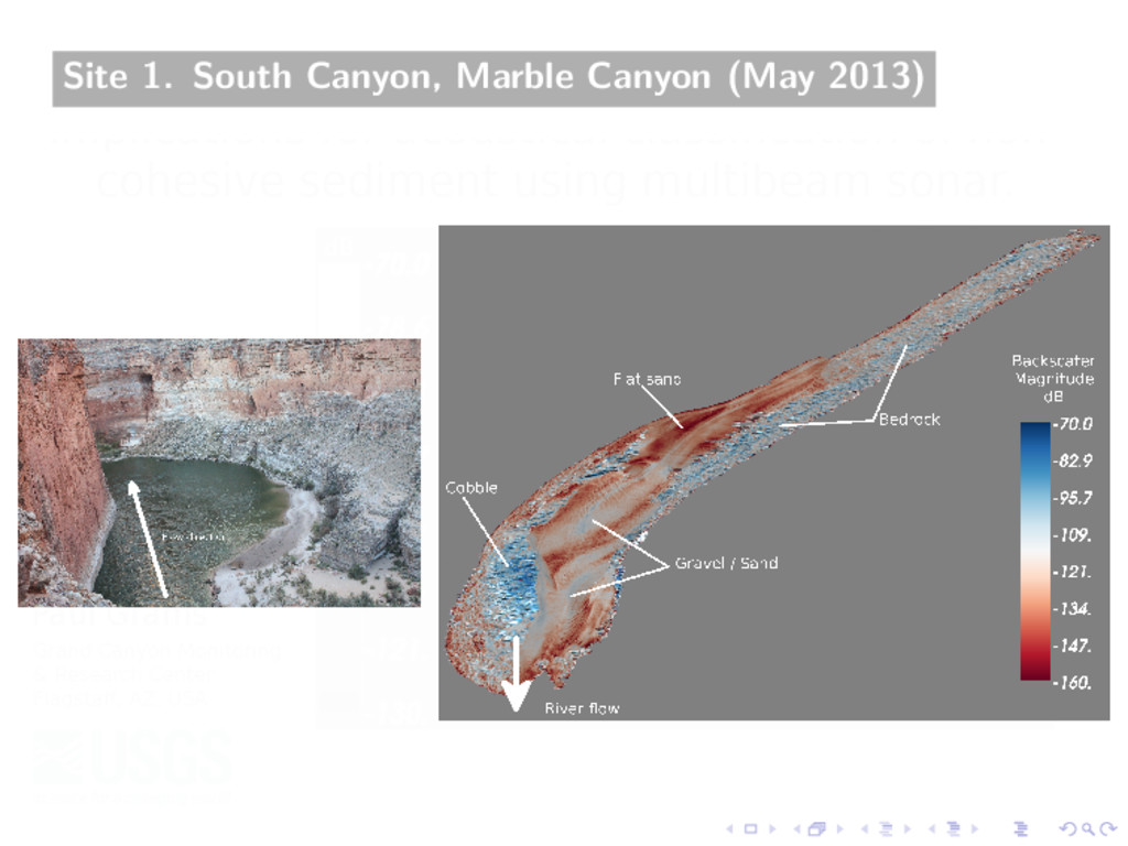 Site 1. South Canyon, Marble Canyon (May 2013)