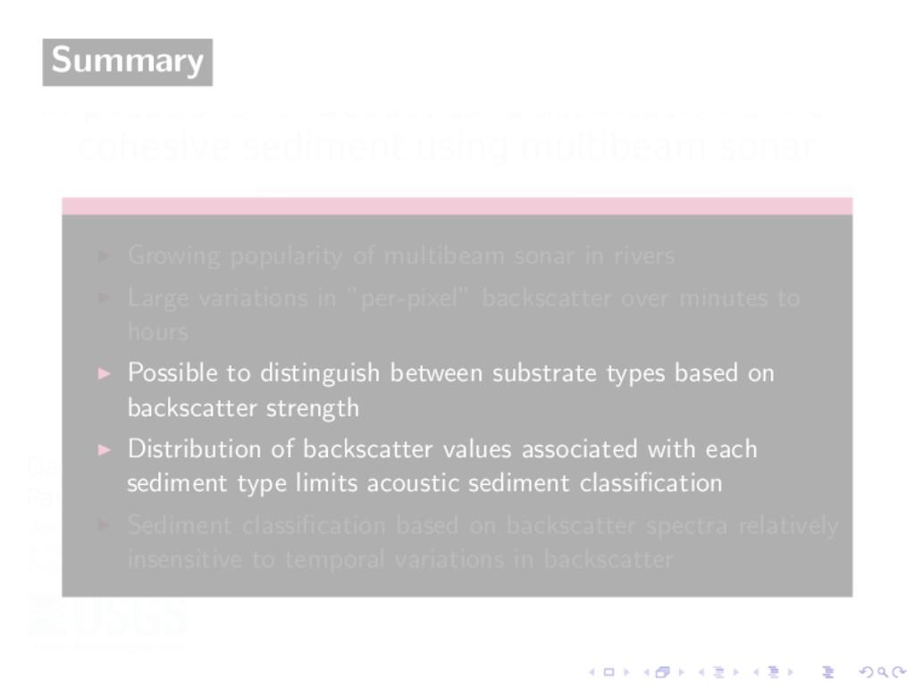 Summary Growing popularity of multibeam sonar i...