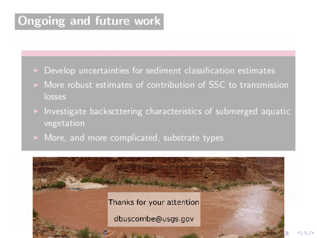Ongoing and future work Develop uncertainties f...