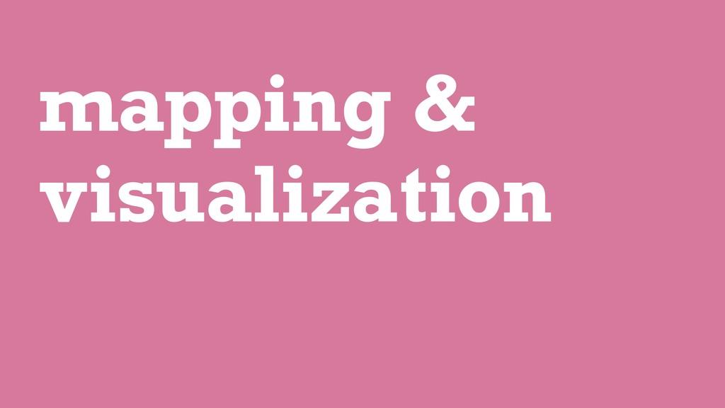 mapping & visualization